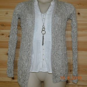 Spring sparkle cardigan maurices S tan / silver
